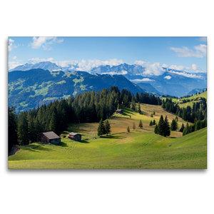 Premium Textil-Leinwand 120 cm x 80 cm quer Idyllische Schweizer