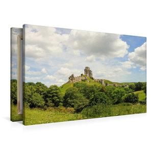 Premium Textil-Leinwand 90 cm x 60 cm quer Corfe Castle Dorset