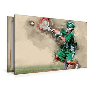 Premium Textil-Leinwand 120 cm x 80 cm quer Lacrosse