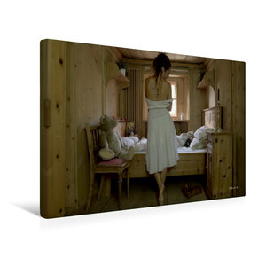 Premium Textil-Leinwand 45 cm x 30 cm quer Trautes Heim