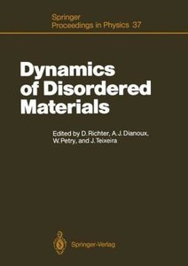 Dynamics of Disordered Materials