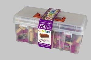 Bausteine Maxi Mix Box 750 Teile in Spezial Farben in praktische