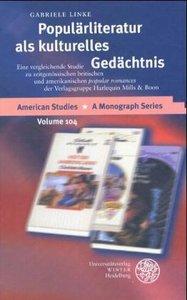 Populärliteratur als kulturelles Gedächtnis