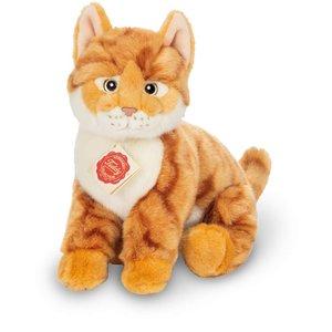 Teddy Hermann 91829 - Katze sitzend, rot getigert 24 cm, Plüscht