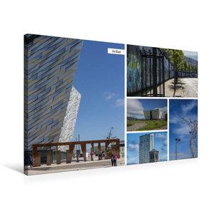 Premium Textil-Leinwand 75 cm x 50 cm quer Belfast