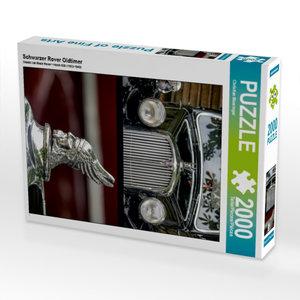 Schwarzer Rover Oldtimer 2000 Teile Puzzle hoch
