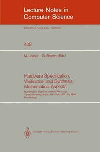 Hardware Specification, Verification and Synthesis: Mathematical