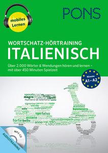 PONS Wortschatz-Hörtraining Italienisch mit Begleitheft und MP3-