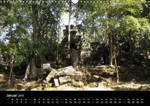 Die Tempelanlagen von Angkor (Wandkalender 2019 DIN A3 quer)
