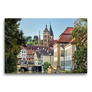 Premium Textil-Leinwand 75 cm x 50 cm quer Altstadt und Stadtkir