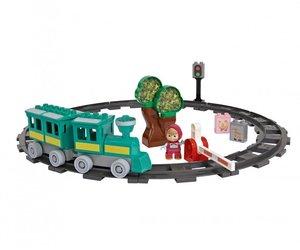 BIG 800057095 - PlayBIG Bloxx Mascha und der Bär, Train Fun Spie
