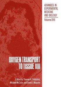 Oxygen Transport to Tissue XIII