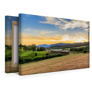 Premium Textil-Leinwand 45 cm x 30 cm quer Region Zofingen: Re 4