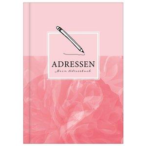 Adressen - Mein Adressbuch DIN A5 rosa