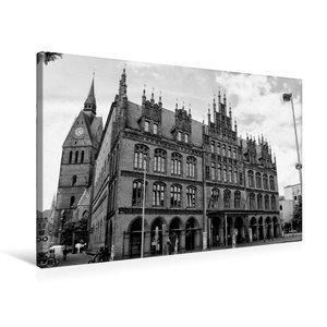 Premium Textil-Leinwand 75 cm x 50 cm quer Altes Rathaus