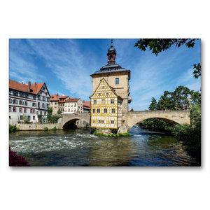 Premium Textil-Leinwand 90 cm x 60 cm quer Bamberg