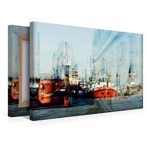 Premium Textil-Leinwand 45 cm x 30 cm quer Hafenimpressionen