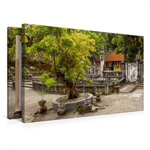 Premium Textil-Leinwand 75 cm x 50 cm quer Parfümpagode Hanoi