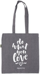 myNOTES Do what you love - geräumige Stofftasche aus recycelter