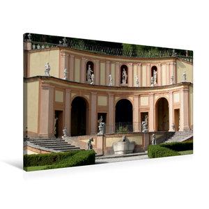 Premium Textil-Leinwand 75 cm x 50 cm quer Villa Betoni