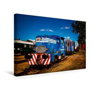 Premium Textil-Leinwand 45 cm x 30 cm quer Lokomotive T 211.0823