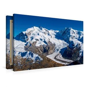 Premium Textil-Leinwand 90 cm x 60 cm quer Gornergletscher mit d