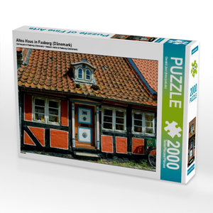 Altes Haus in Faaborg (Dänemark) 2000 Teile Puzzle quer