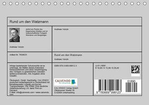 Rund um den Watzmann (Tischkalender 2019 DIN A5 quer)