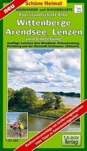 Radwander- und Wanderkarte Flusslandschaft Elbe, Wittenberge, Ar