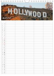 Kalifornien - Familienplaner 2020 (Wandkalender 2020 DIN A4 hoch