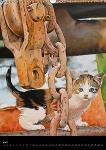 Toiles & Chats Peintures d'Elisabeth BEGOT (Calendrier mural Cal