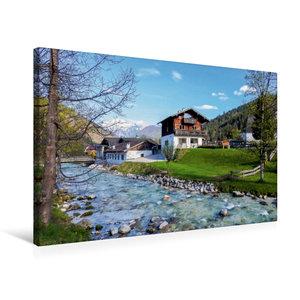 Premium Textil-Leinwand 75 cm x 50 cm quer Ramsau, Berchtesgaden