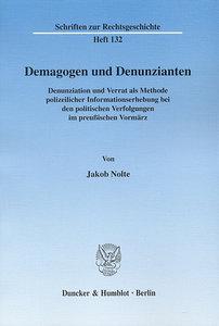 Demagogen und Denunzianten