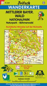 Mittlerer Bayerischer Wald / Böhmerwald 1 : 50 000. Fritsch Wand