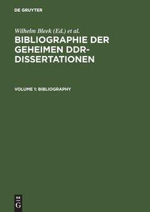Bibliographie der geheimen DDR-Dissertationen