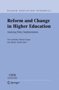 Reform and Change in Higher Education