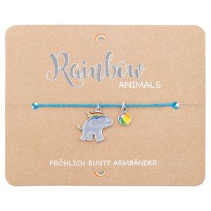 Armband - Rainbow Animails - Elefant
