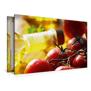 Premium Textil-Leinwand 120 cm x 80 cm quer Tomaten mit feinstem