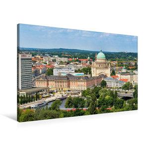 Premium Textil-Leinwand 90 cm x 60 cm quer Potsdams neue alte Mi