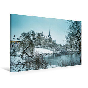 Premium Textil-Leinwand 75 cm x 50 cm quer Schloss Ahorn bei Cob