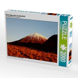 CALVENDO Puzzle Mount Ngauruhoe im Abendlicht 2000 Teile Lege-Gr