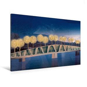 Premium Textil-Leinwand 120 cm x 80 cm quer Die Brücke