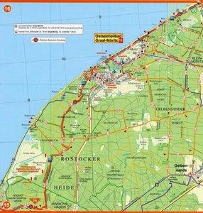Radwander- und Wanderkarte mit Zick Zack Faltung Ostseeküsten-Ra