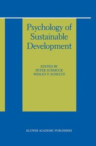 Psychology of Sustainable Development