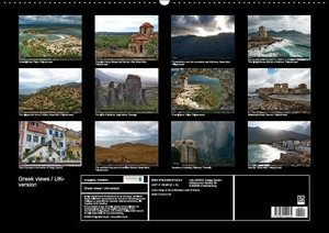 Greek views / UK-version (Wall Calendar perpetual DIN A2 Landsca