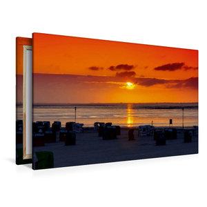 Premium Textil-Leinwand 120 cm x 80 cm quer Sonnenuntergang am S
