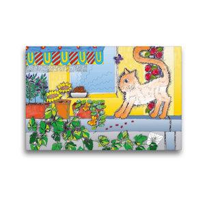 Premium Textil-Leinwand 45 cm x 30 cm quer Rouladenklau