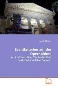 Eventkriterien auf der Opernbühne