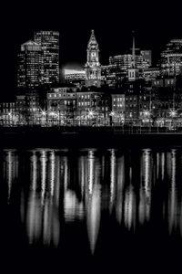 Premium Textil-Leinwand 50 cm x 75 cm hoch BOSTON Abendliche Sky