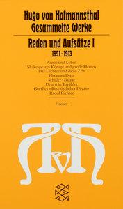 Reden und Aufsätze I. (1891 - 1913)
